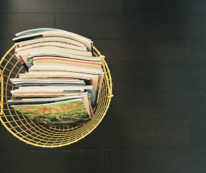 magazines in a basket