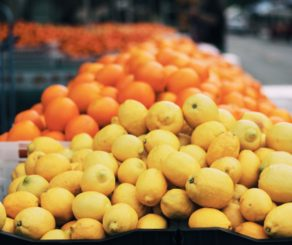 Lemons and Oranges at the farmers market