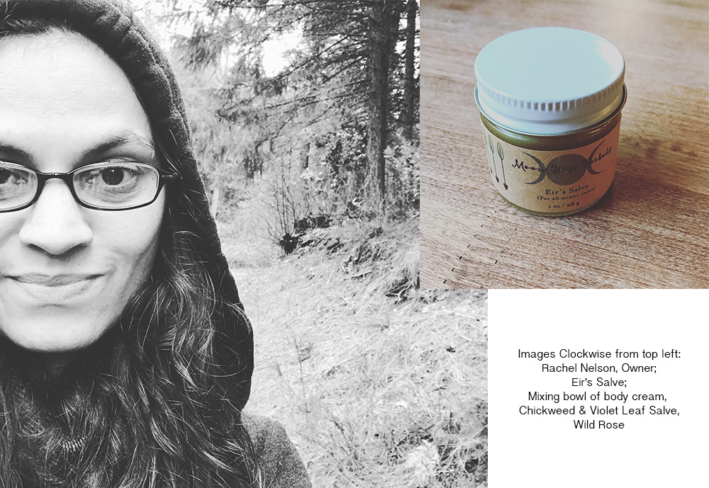 Moon Wise Herbals Meet the Maker Series blog post. Rachel Nelson, Owner of Moon Wise Herbals. Eir's Salve.