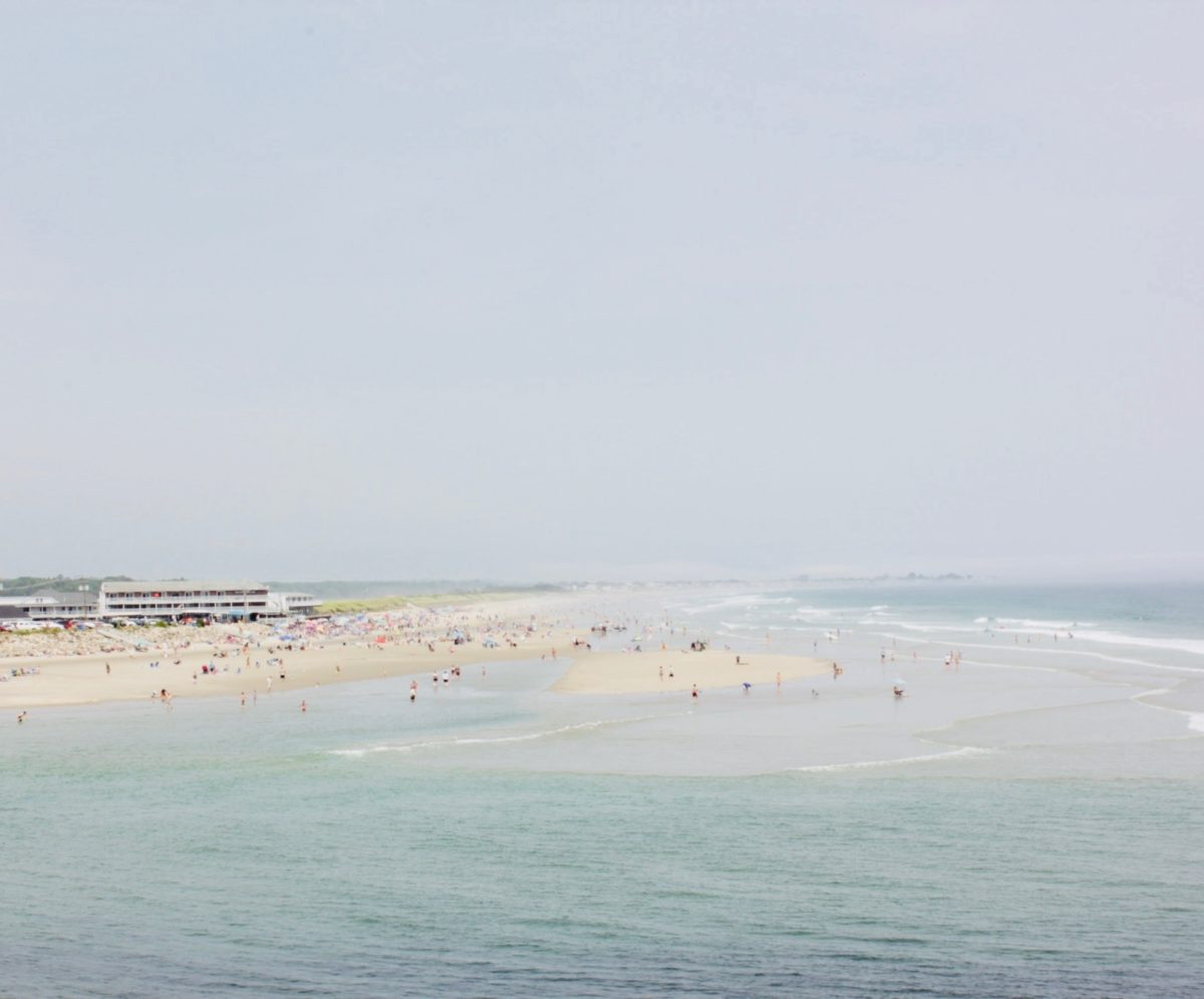 Photo of a beach promoting SPF