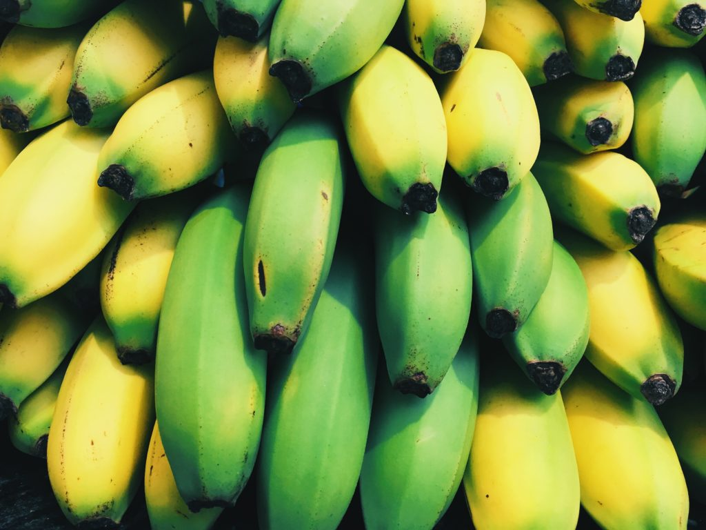 A pile of bananas