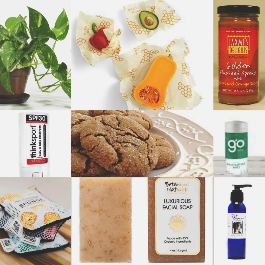 collage of affordable organic products